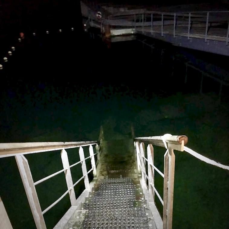 Trappen ned i vandet