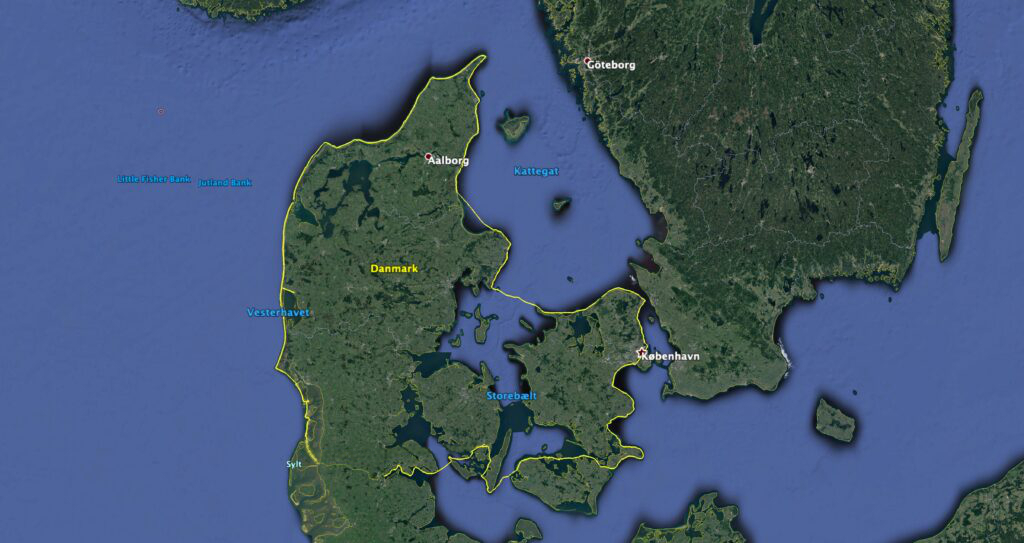 Danmark Rundt i Havkajak Rute