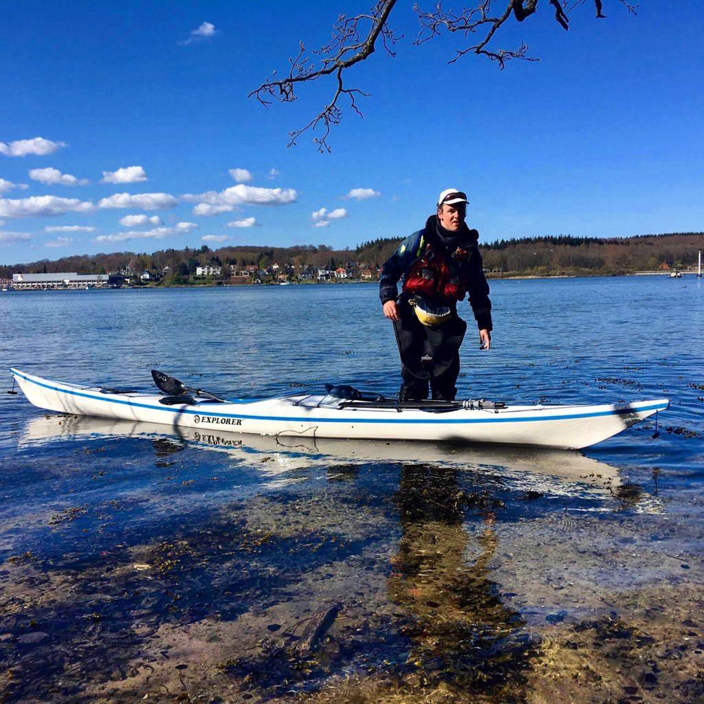 Lasse Går i Land på Thurø efter 143 km